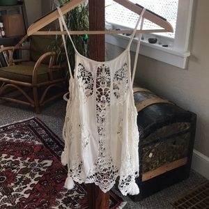 Intimately Free People White Peasant Top XS